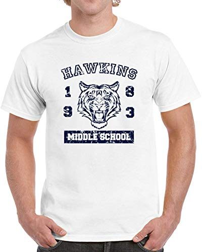 Hawkins Middle School Mens T-Shirt Funny Costume Stranger TV