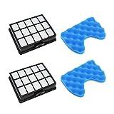 WuYan 2 Set Filtro per aspirapolvere di Ricambio Kit filtri e Filtro in Spugna per Samsung DJ97-00492A SC6520 SC6530 / 40/50/60/70/80/90