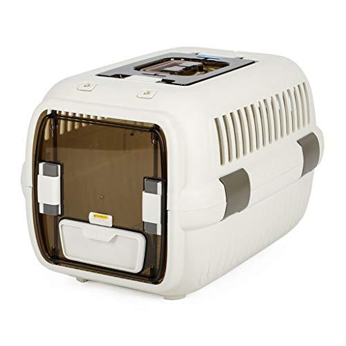 Bolsa de Mascotas Pet Air Box Cat Maleta de Transporte aéreo Cat Cage Portable out Box Car con Caja de envío Rollsnownow (Size : Large Size)