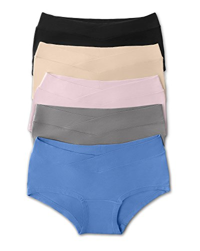 Kindred Bravely Under The Bump Seamless Maternity Underwear/Pregnancy Panties - Hipster (Medium, Assorted, 5 Pack)