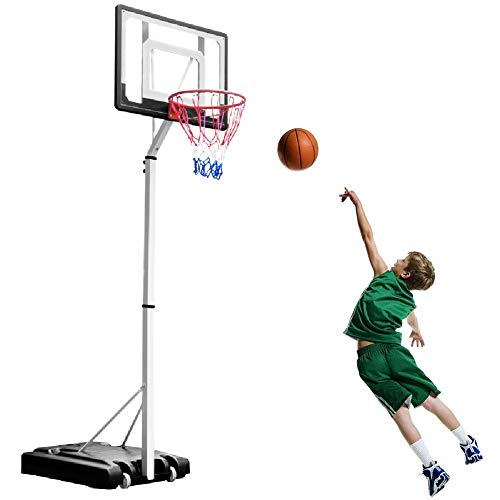 Basketball Hoop YXX System for Kids Teenagers Toy Game, Indoor Outdoor Basketball Stand, PVC Backboard and Basketball Included (Size : Set of 4)