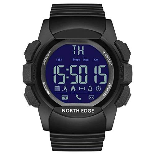 Impermeabile Smartwatch Multifunzione Orologio Sportivo Activity Tracker Contapassi Orologio Intelligente Per IOS Android-nero-1
