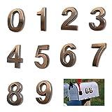 KAILEE 10pcs Numeros de Buzon 0-9 Numeros de Casa Exterior Adhesivos 5 x 3.5cm Numeros de Puerta para Casa del Hotel Puerta Dirección Número Placa Etiqueta Signo