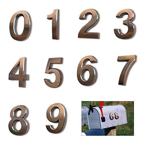 KAILEE 10 Stücke Hausnummer 0-9 Mailbox Nummer Türnummern Selbstklebend Briefkasten Hausnummern Aufkleber für Haus Hotel Tür Adresse Zeichen Zimmernummer