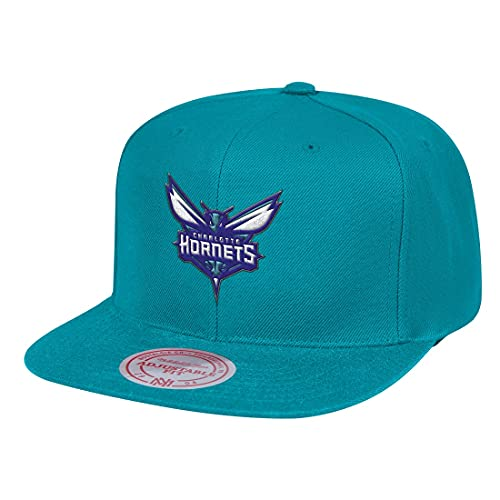 Mitchell & Ness Team Ground Charlotte Hornets - Cappellino con visiera, colore: Teal