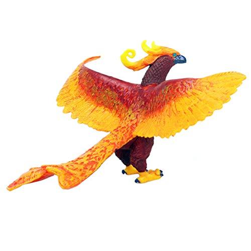 FLORMOON Vögel-Figuren Realistisch Phönix Tiere Spielzeug Set Simuliert Kunststoff Tiermodelle Spielzeug Lernspielzeug für Mädchen Kinder Kleinkinder