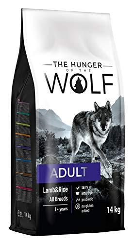 The Hunger of The Wolf Hundetrockenfutter für erwachsene Hunde mit Lamm und Reis, alle Rassen, feine Zubereitung, 14 kg