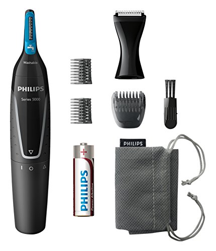 Philips Series 5000 Battery-Operated Nose, Ear & Eyebrow Trimmer - Showerproof & No Pulling Guaranteed - NT5171/15