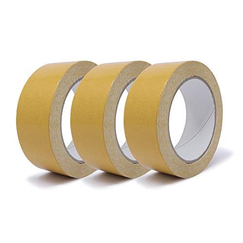 gws Doppelseitiges Verlegeband | Beidseitig stark klebendes Teppichband mit Folienträger | Verklebung von Teppichen & PVC-Böden in Profi-Qualität (3, 25 m x 38 mm)