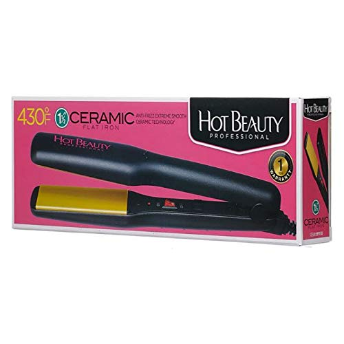 Kiss Products Hot Beauty Flat Iron, 1.5 Inch, 1 Pound
