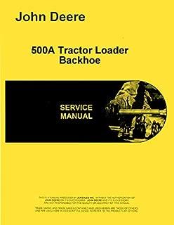 Service Manual John Deere 500A Tractor Loader Backhoe Technical 123,000+ tm1025