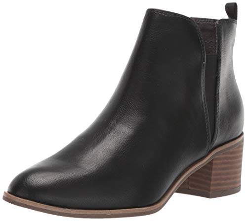 Dr. Scholl's Shoes Women's TEAMMATE Ankle Boot, Black Smooth, 9.5 M US