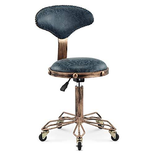 CLX Salón de Belleza Taburete, sillón de Masaje Ajustable (Taburete con Ruedas), la Carpeta de SPA Tatuaje (Ruedas hidráulicas Regulables),d