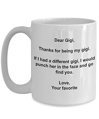Presentes engraçados Gigi - Caneca de café I'd Punch Another Gigi In The Face - Caneca de presente de seu filho favorito