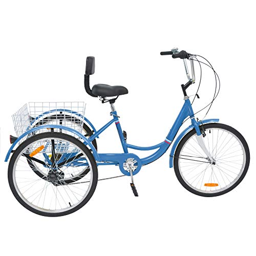 MOPHOTO Adult Tricycles 7 Speed
