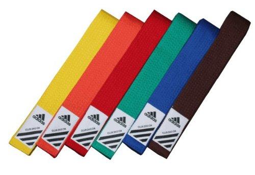 adidas Budogürtel/Kampfsportgürtel Club gelb, 220 cm