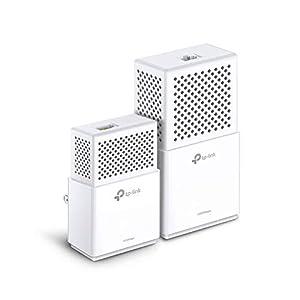 TP-Link TL-WPA7510 - KIT de Adaptadores Powerline Gigabit AV1000 Cobertura Internet, Línea Eléctrica, WiFi AV 1000 Mbps 2 Puertos, ideal Smart TV, Ps4, Nintendo Switch