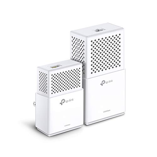 TP-Link TL-WPA7510 - KIT de Adaptadores Powerline Gigabit AV1000 Cobertura Internet, Línea Eléctrica, WiFi AV 1000 Mbps 2 Puertos, ideal Smart TV, Ps4, Nintendo Switch