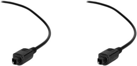 CNE36097 6 Feet 1.8m PCD Basics Fiber Optic Audio Cable, 2 Pack