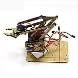 hgbygvuy 4 DOF Acrilico Non assemblato Braccio Robot Fai da Te + 4pcs SG90 9G Miniskirt Servomequarichanism Kit DIY per Maker Learning S