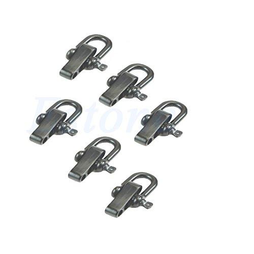 unknows Pulsera de la hebilla del ajuste, hebilla ajustable del grillete en forma de U del acero inoxidable para las pulseras de Paracord del metal de los sujetadores a presión del diente