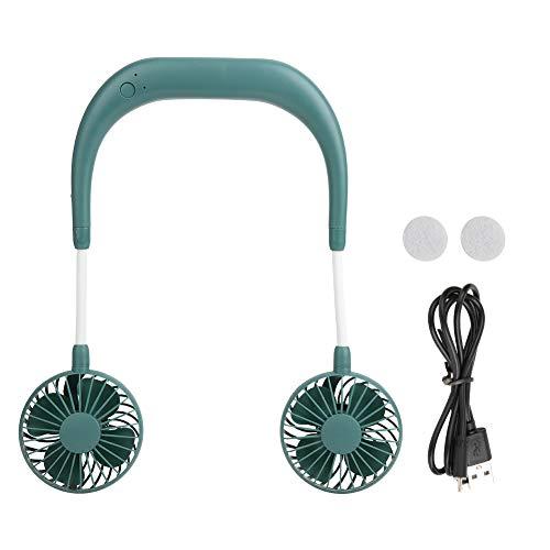 Leylor Ventilador portátil-Mini Ventilador USB portátil Recargable Interior Deportes al Aire Libre Ventilador de Cuello Perezoso Doble