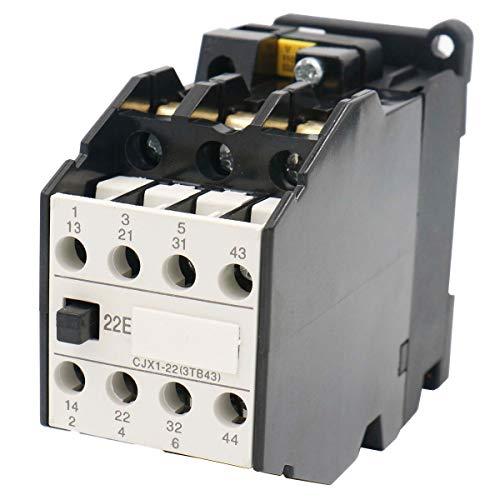 Baomain AC Contactor CJX1-22 110V 50Hz 132V 60Hz Motor Control 3P 2NO + 2NC 22A 35mm DIN Rail