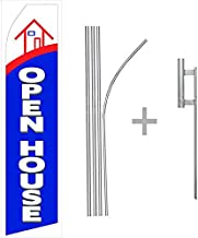 wall26 Open House Econo Flag   16ft Aluminum Advertising Swooper Flag Kit with Hardware