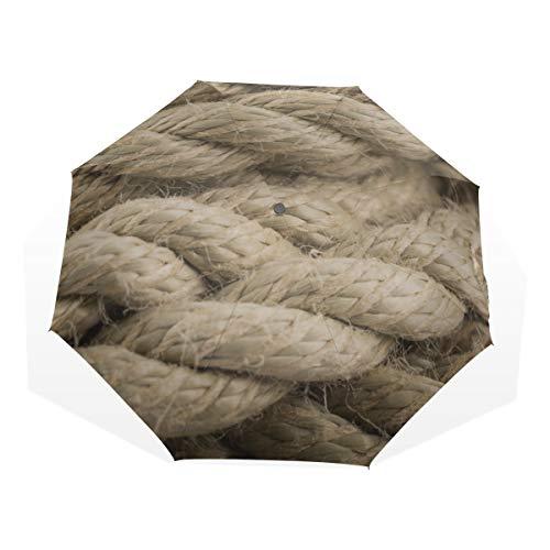 Niedlicher Regenschirm Regenboot Schiffsseil Knoten Oberfläche 3 Faltkunst Regenschirme (außerhalb Druck Regenschirm Kompakt Jungen Regenschirm Kompakt Regenschirme Für Reisen