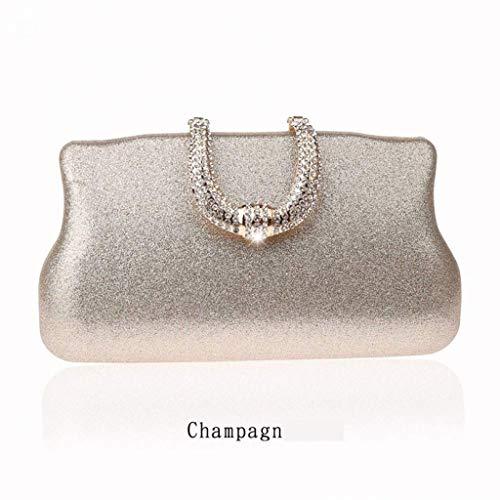 SCDSNB Gold und Silber Abendtaschen, U Diamant Design für Clutch Day Full Dress für Frauen, Nacht, Clutch, Kette, Geldbörse und Handtasche
