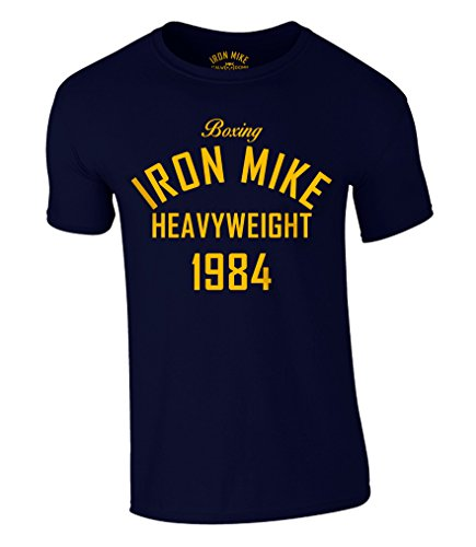 Boxing Iron Mike Heavyweight Olympic 1984 T-Shirt Mike Tyson (L, Navy)