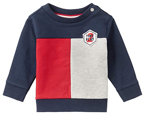 Noppies Baby-Jungen B Sweater LS Collinsville Sweatshirt, Peacoat-P590, 86