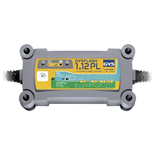 GYS GYS-026902-GYSFLASH 1.12 PL GYSFLASH 1.12PL Ladegerät/Inverter-230 V, Lieferung mit Klammern und Anschlussschuhen.