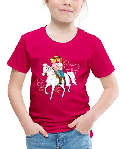 Bibi Und Tina Reiten Auf Stute Sabrina Kinder Premium T-Shirt, 98-104, Dunkles Pink