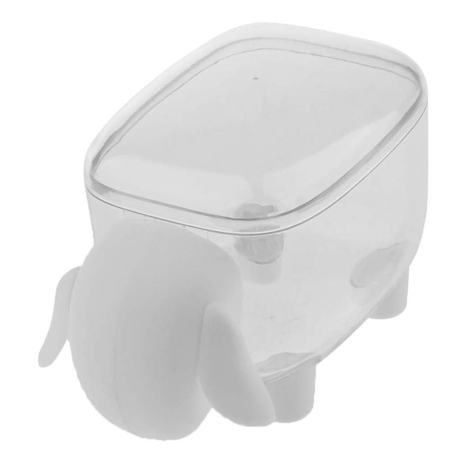 数字気づくなる少ないPerfeclan コスメボックス 収納ケース 綿羊スタイル 爪楊枝 棉棒 コットンケース 耐久性 装飾 2色選ぶ - 白