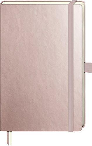 Brunnen 105554893 Notizbuch Kompagnon Metallic (Hardcover Einband, 9,5 x 12,8 cm, dotted, 192 Seiten) 1 Stück Rosegold
