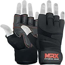 MRX Weightlifting Gloves for Men Workout Gloves Mens Wrist Support Lifting Gloves Male Gym Gloves | Workout Gym Accessories for Men Weight Lifting Fingerless Gym Exercise for Powerlifting