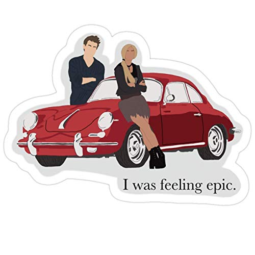DKISEE Stickers I was Feeling Epic Decals Car Wall (3 Pcs/Pack) Books 4 inches