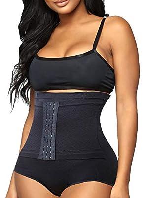 Women Body Shaper Tummy Control Shapewear Panties High Waisted Waist Trainer Underwear Butt Lifter Firm Stomach Cincher (Black, XL/XXL)