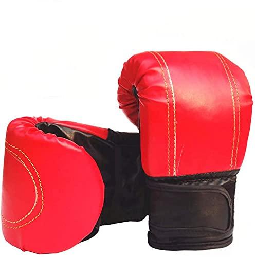 Guantoni da Boxe per Kickboxing Fighting Sparring Muay Thai Training, Guantoni da Boxe da 5 Once per Uomo e Donna, Guanti da Kickboxing da Combattimento for Sacco da Boxe, Pad per Messa a Fuoco