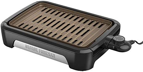 George Foreman GFS0090SB Open Grate Smokeless Grill Black Family Size product image