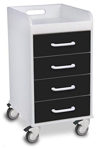 TrippNT 51146 Polyethylene Compact 4 Drawer Locking Cart, 14