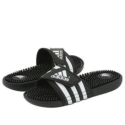 adidas adissage (Black/White) Women