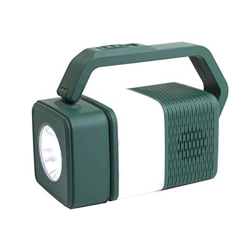 Rlevolexy Creativo Luz de Noche USB Recarga Lámpara de Camping Multifuncional Bluetooth Audio Lámpara de Mesa para Oficina en el Hogar