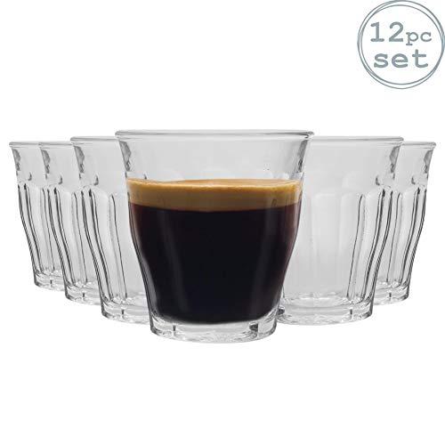 Duralex Picardie - Trinkgläser - geeignet als Shotglas oder Espressoglas - transparent - 90 ml - 12 Stück