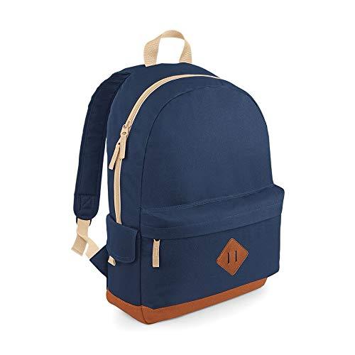 Bagbase - Sac à dos rembourré de style rétro - Heritage Taille unique bleu marine
