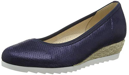 Gabor Shoes Damen Comfort Sport Geschlossene Ballerinas, Blau (Nightblue (Jute) 26), 41 EU