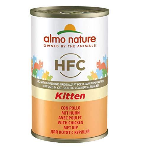 Almo Nature Katzenfutter Cat Classic Kitten Huhn, 24er Pack (24 x 140 g)