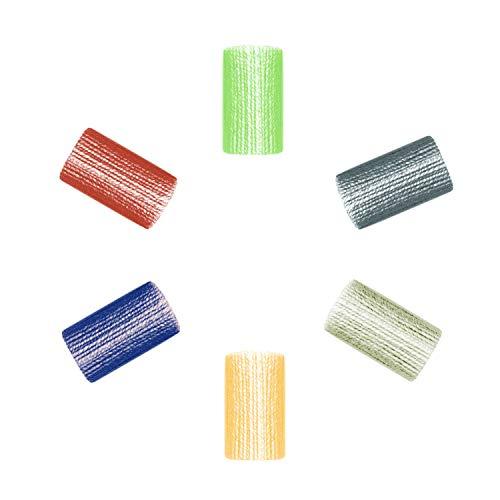 Ovillos de Tejer Hecho a Mano 6 en un paquete Los Hilos DIY para Productos de Felpa Hechos a Mano de Ganchillo 6 Colores Estambres Caseros Perfecto para Cualquier Proyecto de Ganchillo (D)