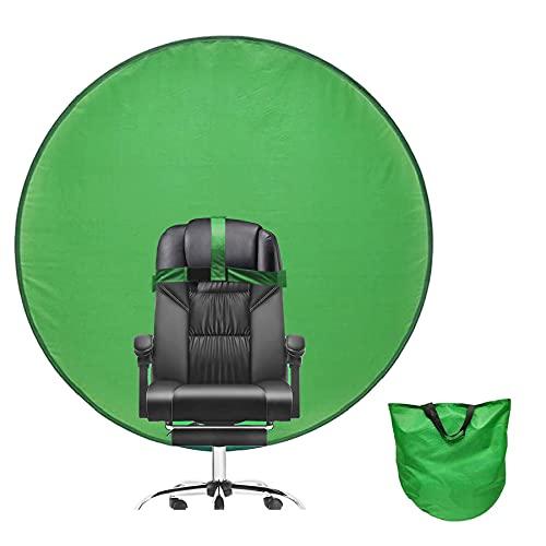 142CM Hintergrund Lehne,Faltbare Hintergrund,Durchmesser Doppelseitiger Grüner Bildschirm,Greenscreen Stuhl,Chromakey-Hintergründe,Grün Panel Hintergrund,Greenscreen...